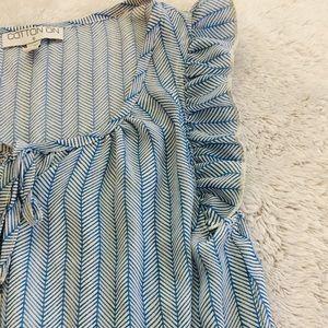 Cotton On Dresses - Blue & white printed dress